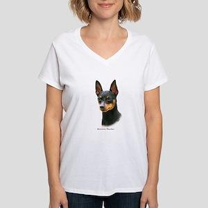Min Pin 8A083-13 Women's V-Neck T-Shirt