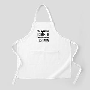 The Sysadmin Giveth BBQ Apron