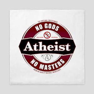 Premium Atheist Logo Queen Duvet