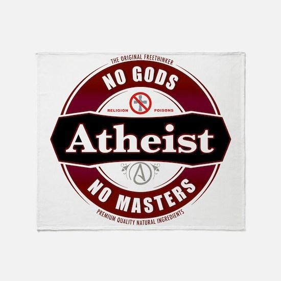 Premium Atheist Logo Throw Blanket