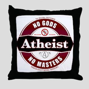 Premium Atheist Logo Throw Pillow