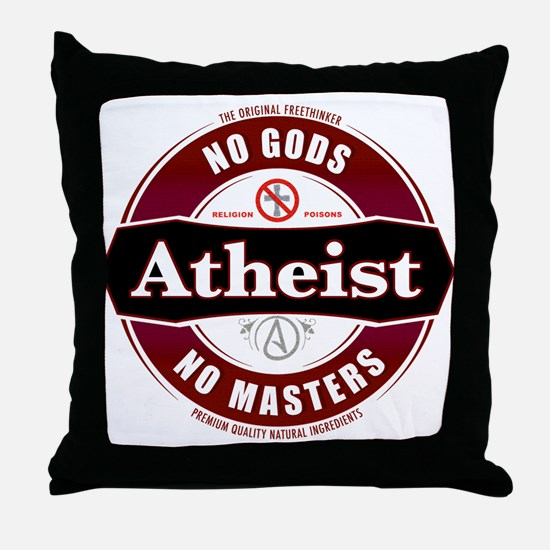 Premium Atheist Logo Throw Pillow