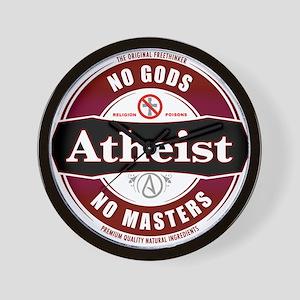 Premium Atheist Logo Wall Clock
