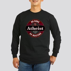Premium Atheist Logo Long Sleeve Dark T-Shirt