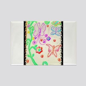 Colorful Butterfly Mirage Rectangle Magnet