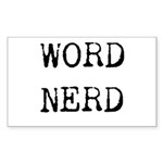 Word Nerd (blktyped) Sticker (Rectangle 10 pk)