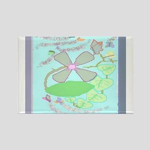 Flower Heartvine Rectangle Magnet