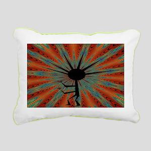 Spiral Kokopelli Rectangular Canvas Pillow