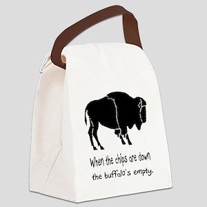 BuffaloChipsBlack2500x2500 Canvas Lunch Bag