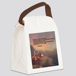 Go Forward With Courage Canvas Lunch Bag