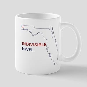Indivisible NWFL logo Mugs