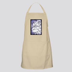 BLACK AND WHITE FLOWER Apron