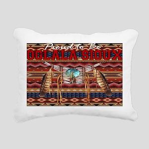 Proud to be Oglala Sioux Rectangular Canvas Pillow