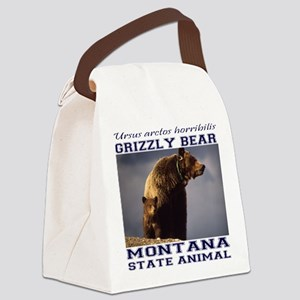 Grizzly - Montana State Animal Canvas Lunch Bag