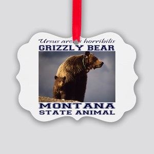 Grizzly - Montana State Animal Picture Ornament