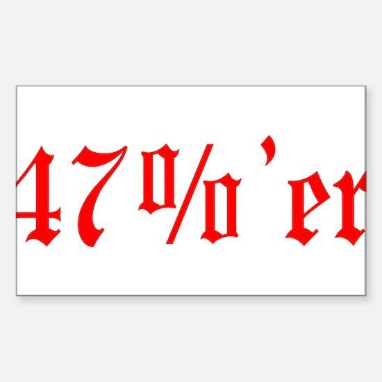 47 Percenter Sticker (Rectangle)