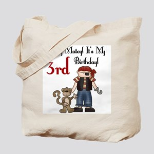 Pirate Party 3rd Birthday Tote Bag