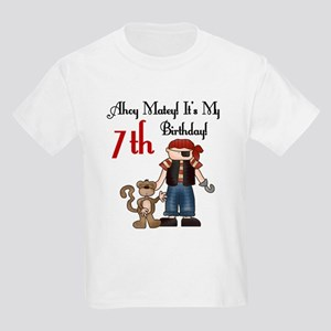Pirate Party 7th Birthday Kids T-Shirt