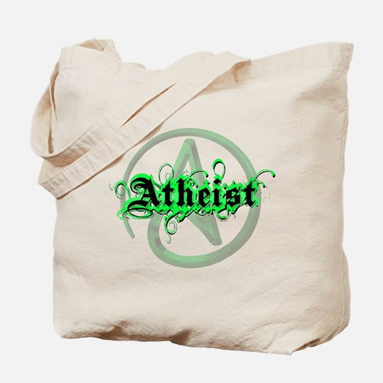 Atheist Green Tote Bag