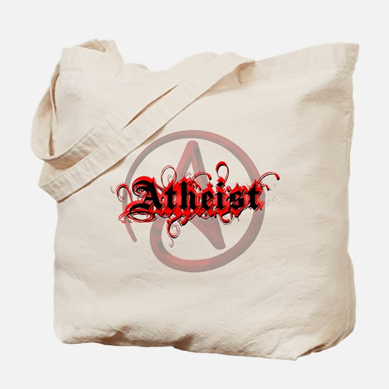 Atheist Red Tote Bag