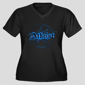 Atheist Blues Women's Plus Size V-Neck Dark T-Shir