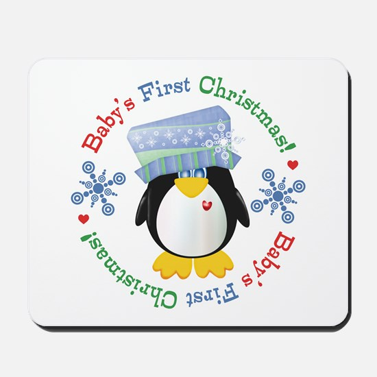 #5 Penguin 1st Christmas Mousepad