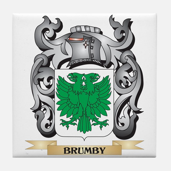 Brumby Family Crest - Brumby Coat of Tile Coaster