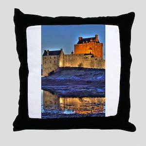Eilean Donan Castle HDR 314 Throw Pillow