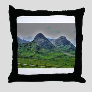 Glencoe 283 , HDR , Scotland Throw Pillow