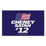 CheneySatan_Oval Sticker (Rectangle 10 pk)
