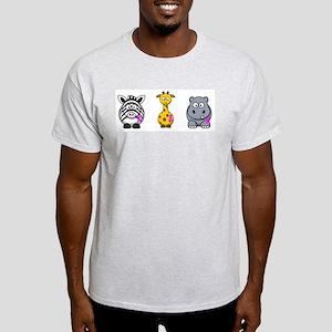 breast cancer cartoon animalslrg Light T-Shirt