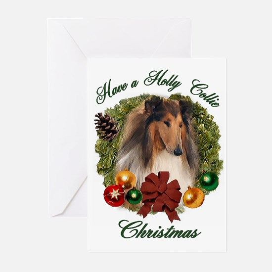 Holly Collie Christmas Cards (Pk of 10)