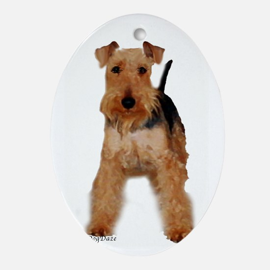Welsh Terrier portrait Oval Ornament
