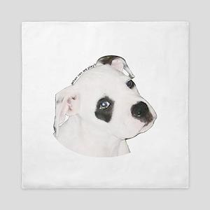 American Bulldog Puppy copy Queen Duvet