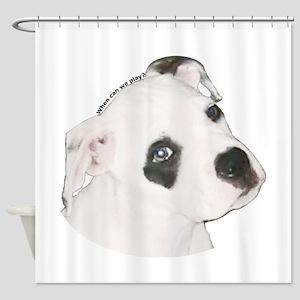 American Bulldog Puppy copy Shower Curtain