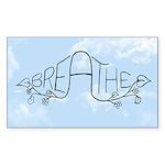 breathe oval sticker Sticker (Rectangle 10 pk)