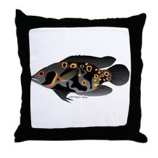 Oscar Ciclid Amazon River Throw Pillow