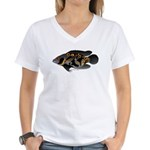 Oscar Ciclid Amazon River Women's V-Neck T-Shirt