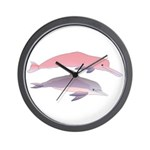 Boto and Tucuxi Amazon River Dolphins Wall Clock