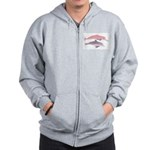 Boto and Tucuxi Amazon River Dolphins Zip Hoodie
