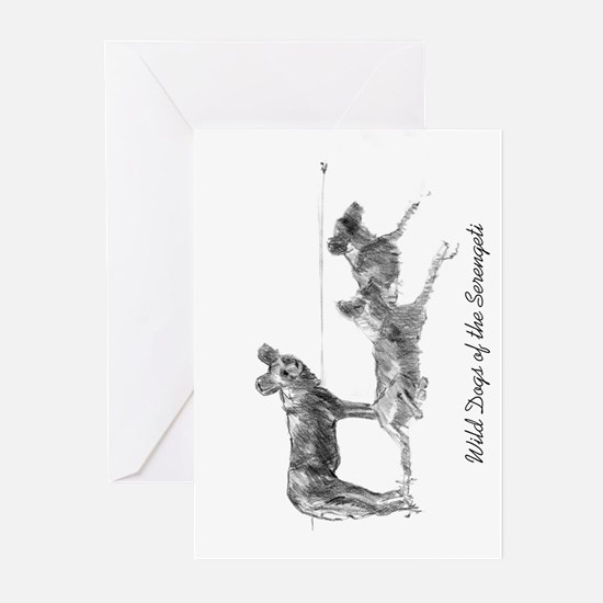 Wild Dogs of the Serengeti Greeting Cards (Package