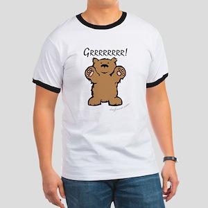 Grrrrrrrr! (Bear) Ash Grey T-Shirt T-Shirt