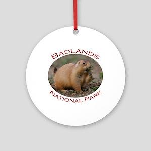 Badlands National Park...Prairie Dog Snacking Orna