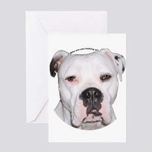 American Bulldog copy Greeting Card