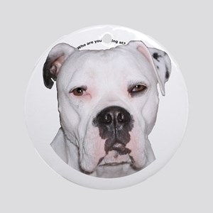 American Bulldog copy Ornament (Round)