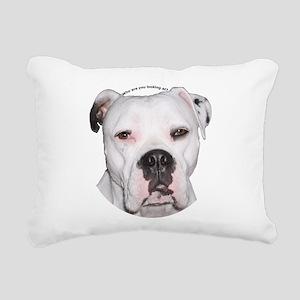 American Bulldog copy Rectangular Canvas Pillo