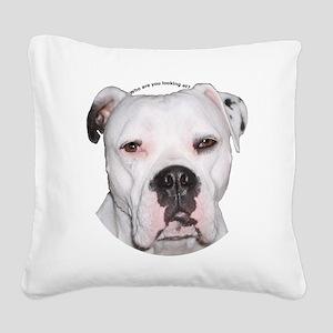 American Bulldog copy Square Canvas Pillow