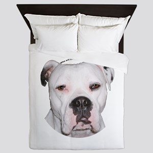 American Bulldog copy Queen Duvet