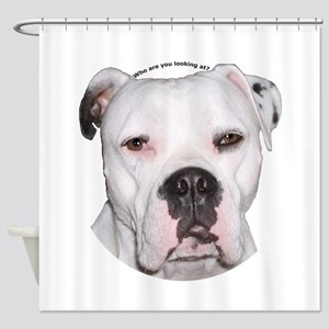American Bulldog copy Shower Curtain