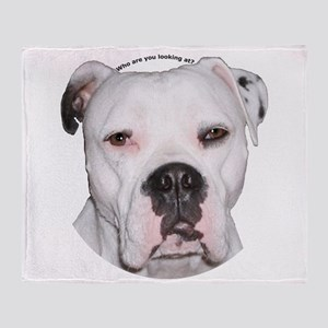 American Bulldog copy Throw Blanket